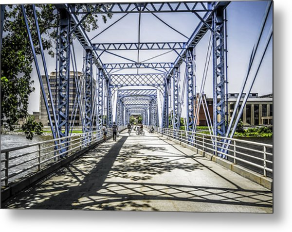 Grand Rapids Bridge Metal Print