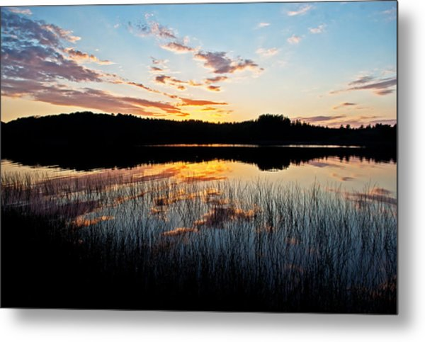 Grand Sable Lake Sunset Metal Print