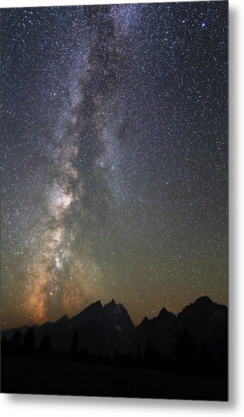 Grand Teton And The Milky Way Metal Print