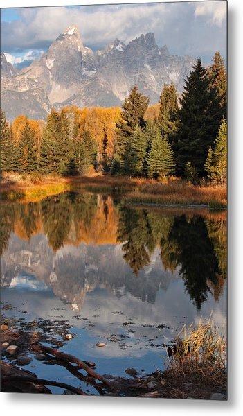 Grand Teton Reflection Metal Print