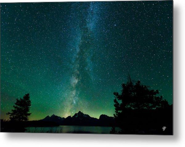 Grand Teton Stars Metal Print by Robert Yone