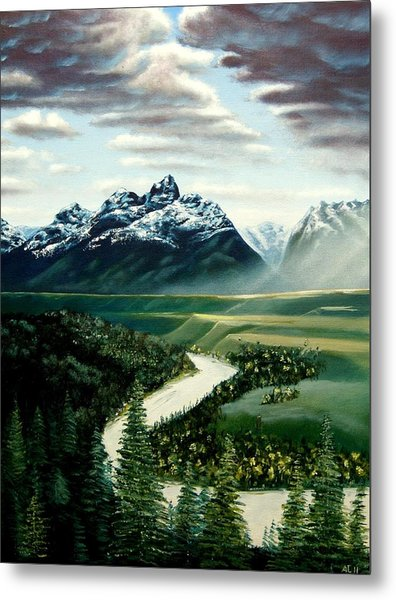 Grand Tetons Metal Print