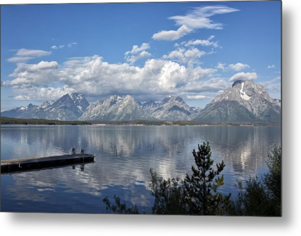 Grand Tetons In The Morning Light Metal Print