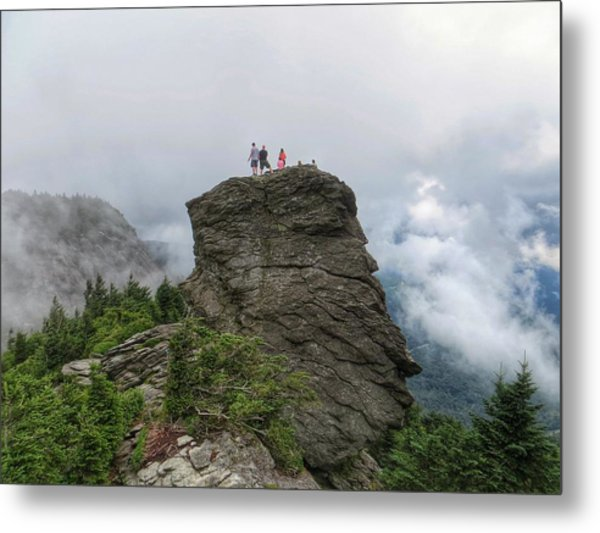 Grandfather Mountain Hikers Metal Print
