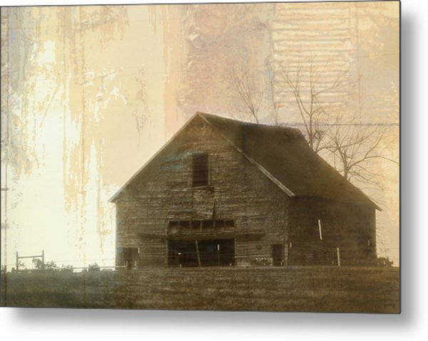 Grandfather's Barn Metal Print