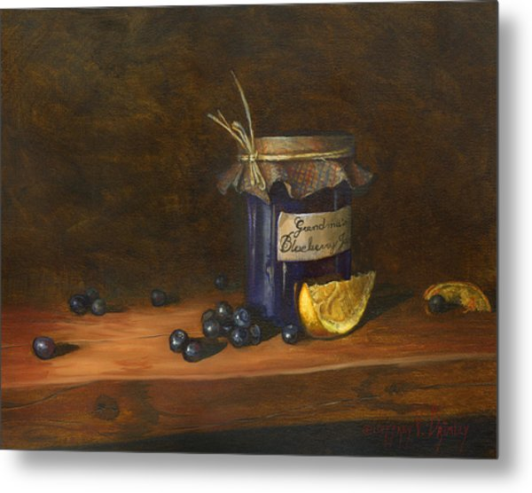 Grandma's Blueberry Jam Metal Print