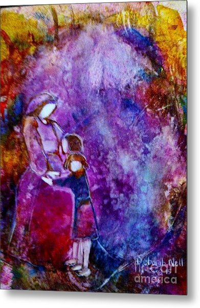 Metal Print featuring the painting Grandma's Girls by Deborah Nell