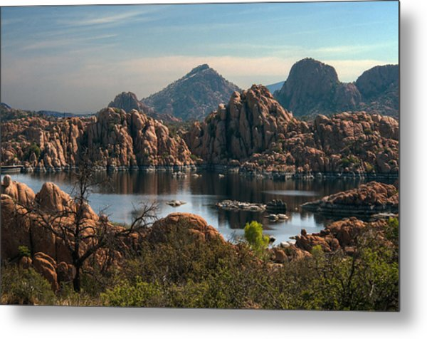 Granite Dells At Watson Lake Metal Print