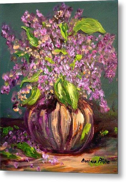Granny Mabry's Lilacs Metal Print by Barbara Pirkle