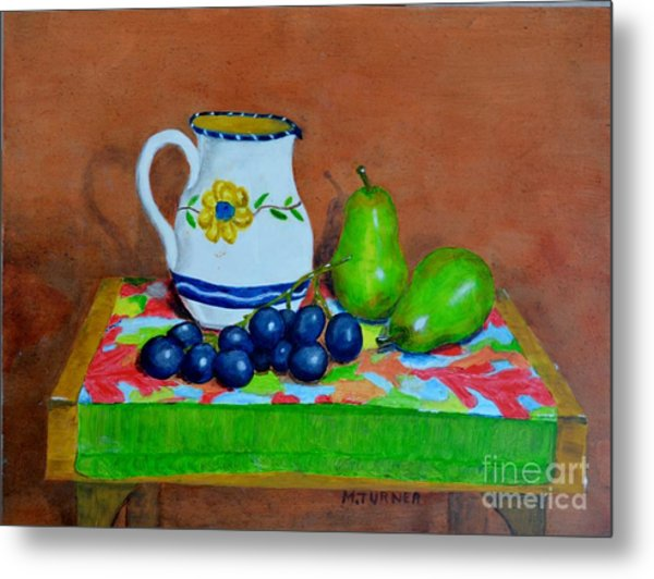Grapes And Pairs Metal Print