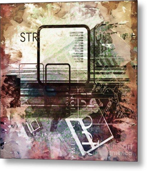 Graphic Square Art Metal Print by Lutz Baar