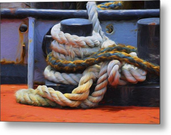 Grasping At Ropes Metal Print