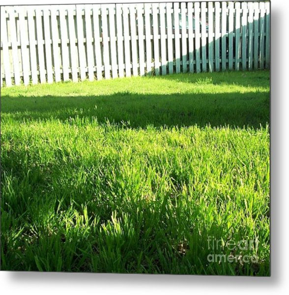 Grass Shadows Metal Print