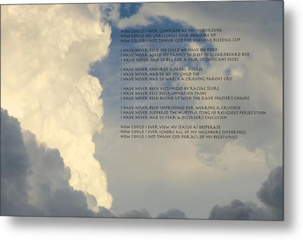 Grateful Skies Metal Print