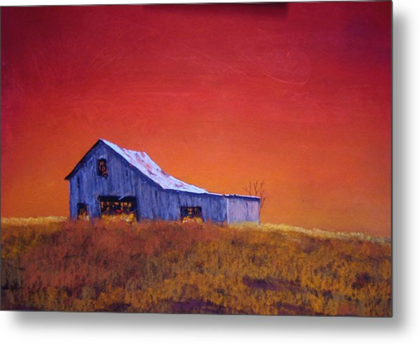 Gray Barn Metal Print