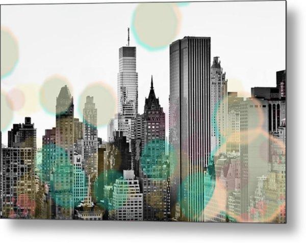 Gray City Beams Metal Print