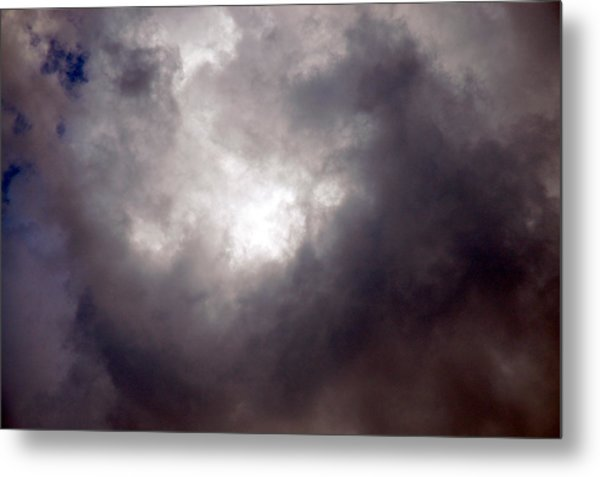 Gray Cloud Metal Print