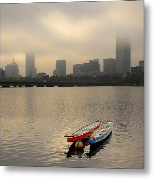 Gray Day On The Charles River Metal Print