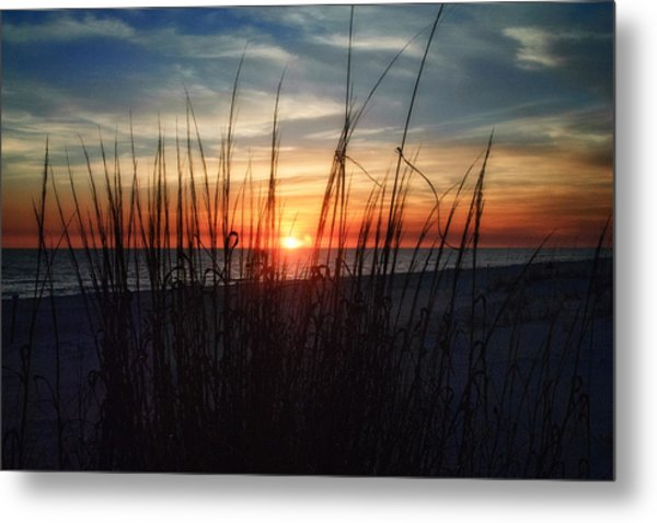 Grayton Beach Sunset 3 Metal Print
