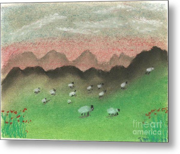 Grazing In The Hills Metal Print