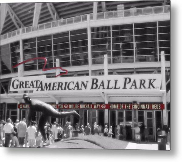 Great American Ball Park And The Cincinnati Reds Metal Print
