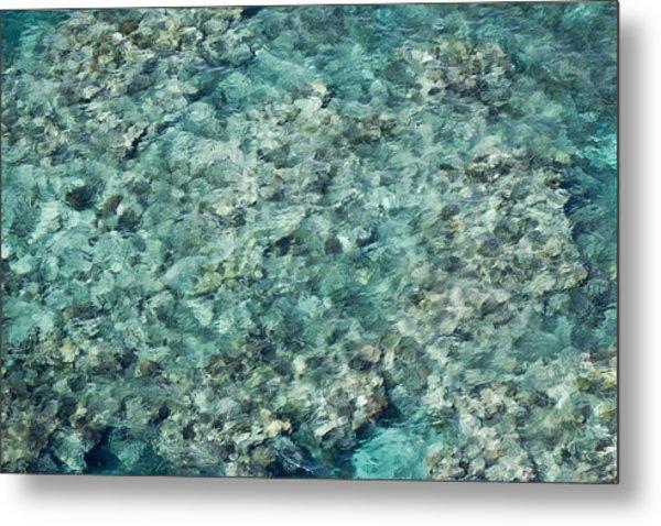 Great Barrier Reef Texture Metal Print