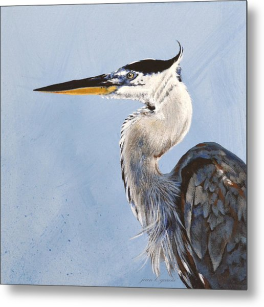Great Blue II Metal Print
