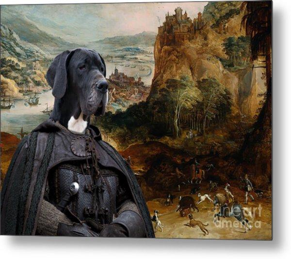 Great Dane Art - The Boar Hunt Metal Print