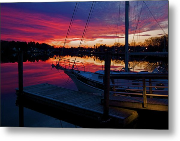 Great Egg Harbor River Sunset Metal Print
