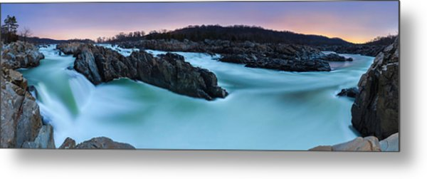 Great Falls By Full Moon Metal Print by Andrew Fritz