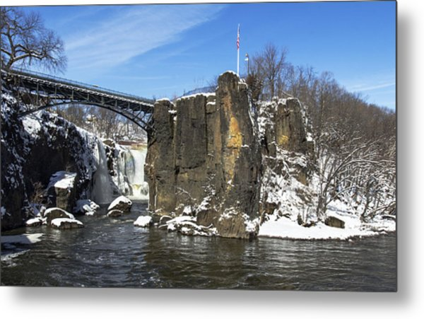 Great Falls In Color Metal Print