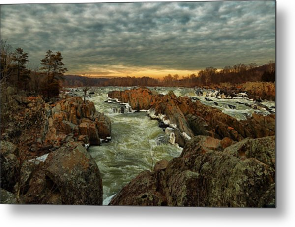 Great Falls Virginia Winter 2014 Metal Print