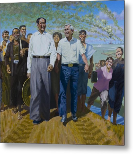 Great Leaders Accomplishing Mission Of Mutual Enrichment Metal Print by Johnny Everyman