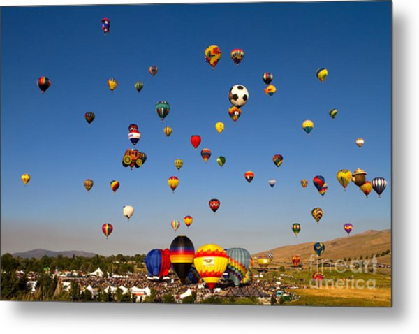 Great Reno Balloon Race Metal Print