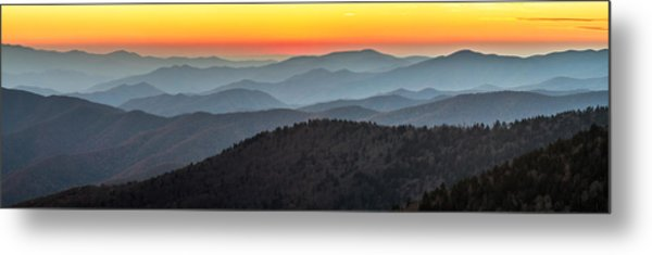 Great Smoky Mountains National Park Sunset Metal Print
