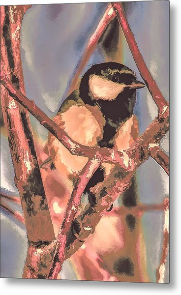 Metal Print featuring the photograph Great Tit  A  Leif Sohlman by Leif Sohlman