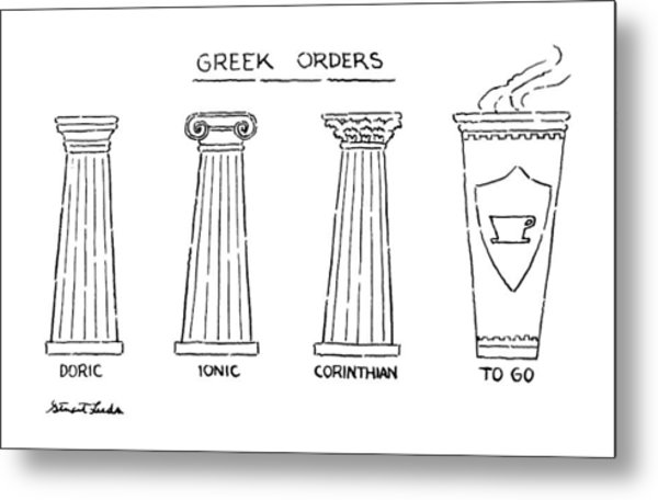 Greek Orders Metal Print