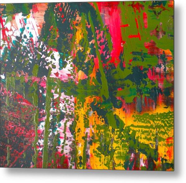 Green Abstract 3 Metal Print