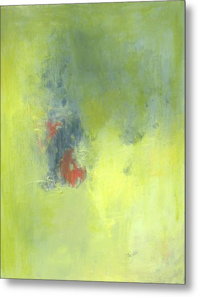 Green Abstract Metal Print by Andrea Friedell