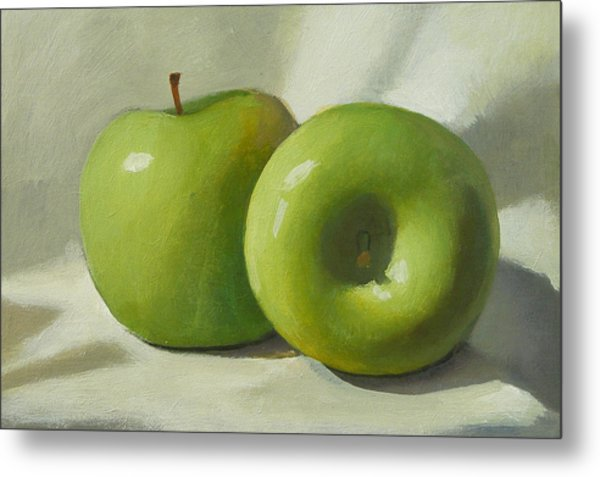Green Apples Metal Print by Peter Orrock
