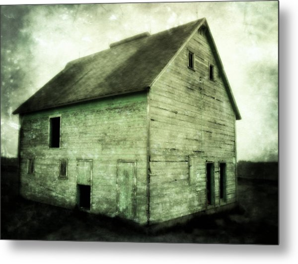 Green Barn Metal Print