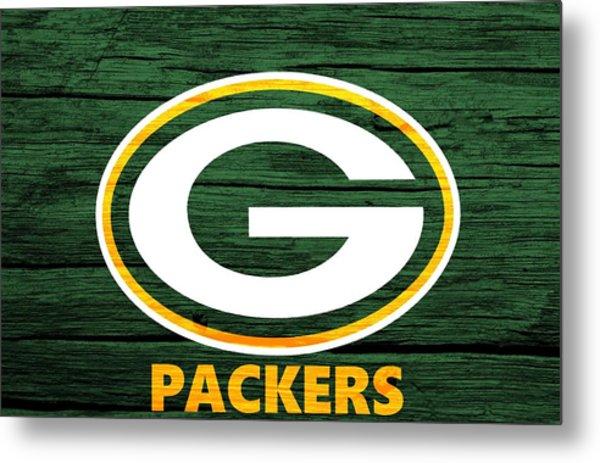 Green Bay Packers Barn Door Metal Print