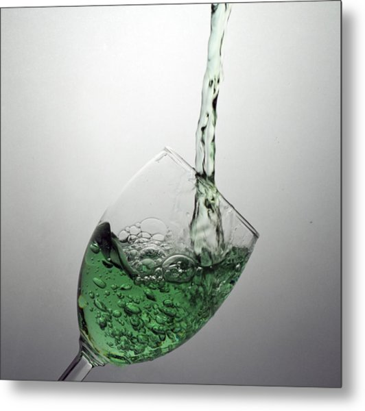 Green Bubbly Metal Print by John Hoey