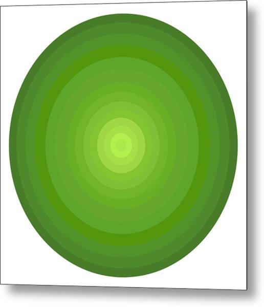 Green Circles Metal Print