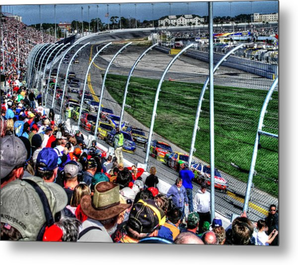 Green Flag 2010 Daytona 500 Metal Print