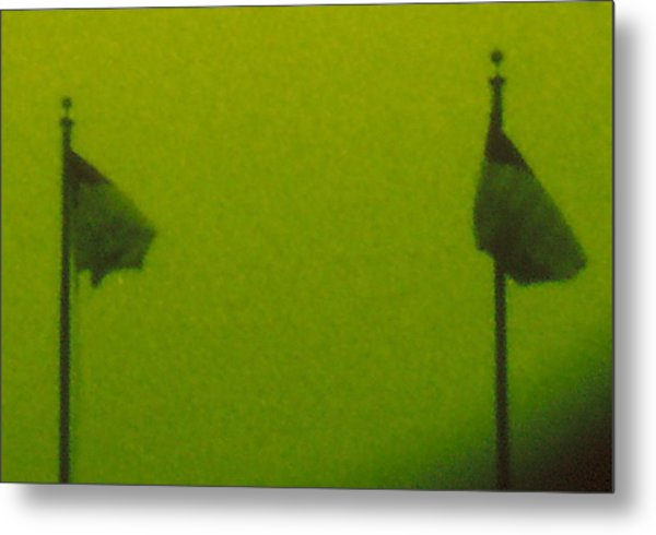 Green Flags Metal Print by Lawrence Horn