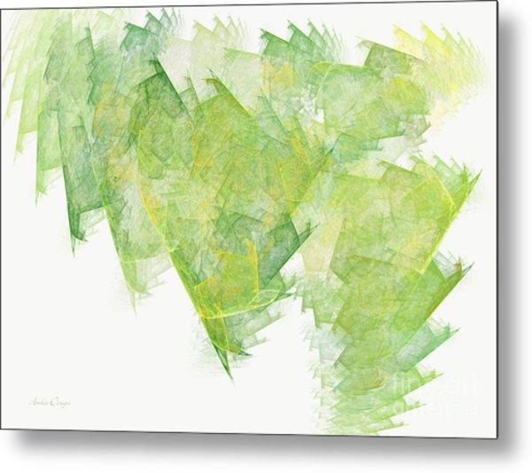 Green Flash Abstract Metal Print
