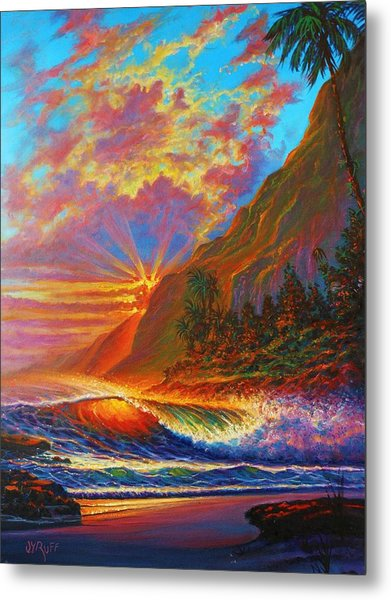 Green Flash Metal Print
