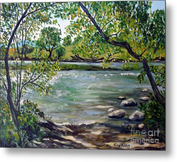 Green Hill Park On The Roanoke River Metal Print