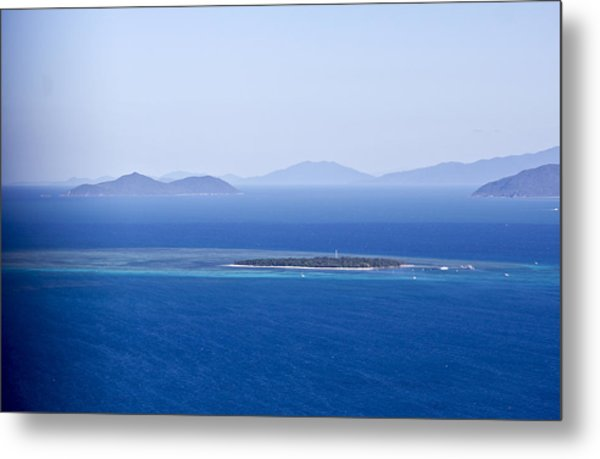 Green Island With Fitzroy Island In The Back Ground Metal Print
